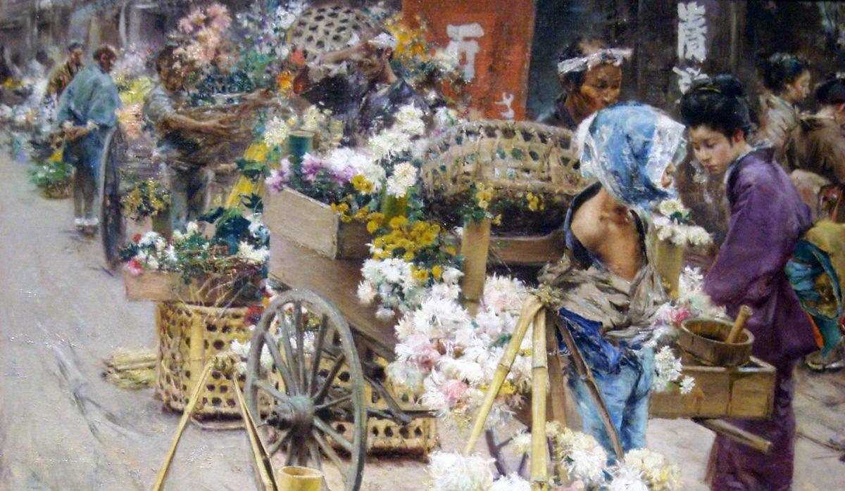 昔の花市場